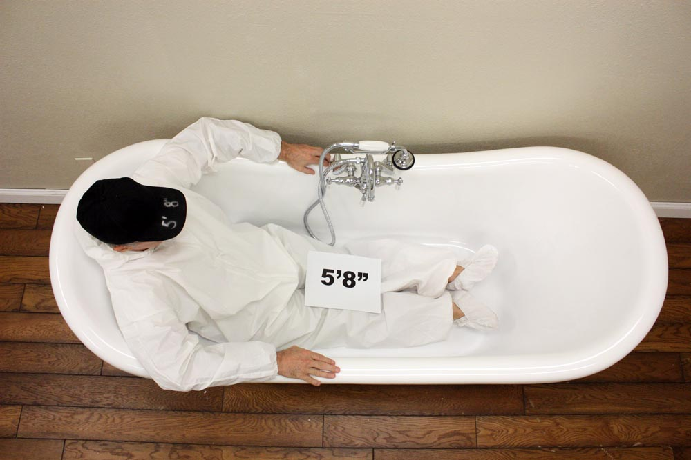 extra large clawfoot tub.  See 5 8 Tub Size Chart and Sizing Examples