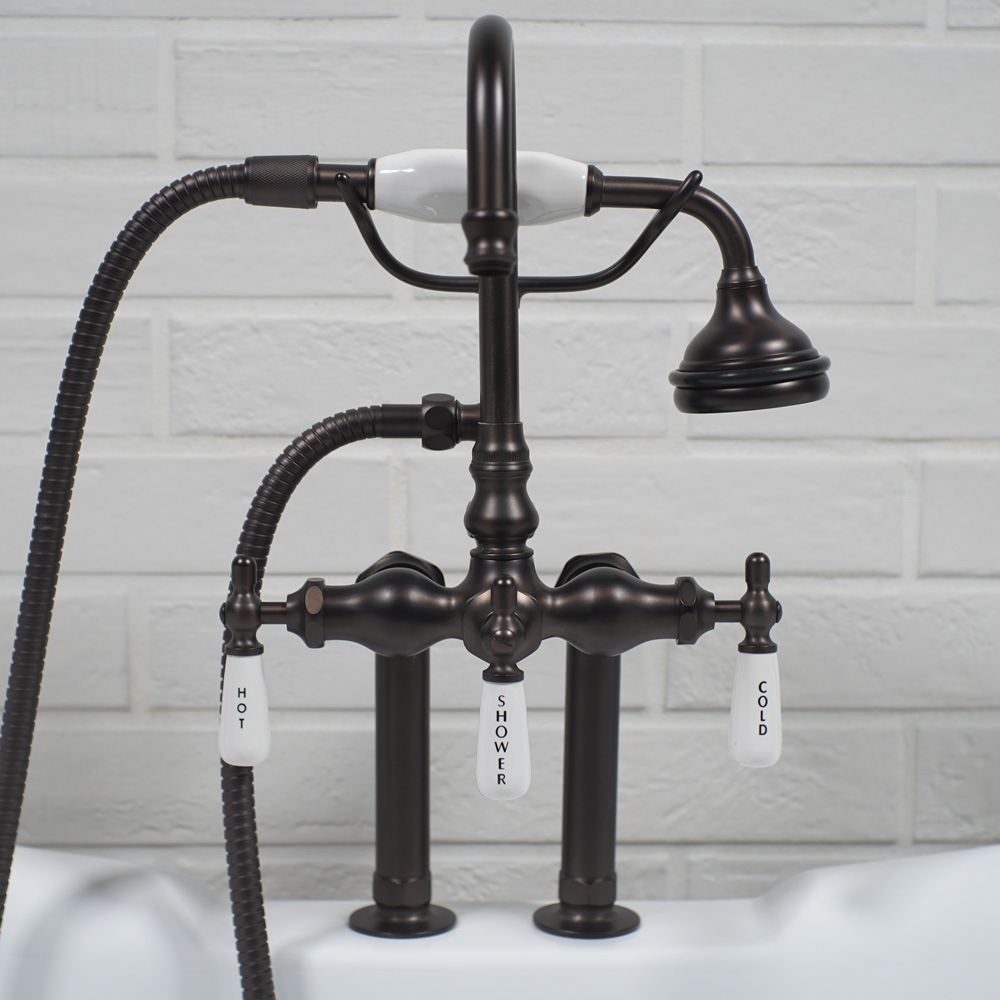 edwardian deck mount tub faucet in oil rubbed bronze