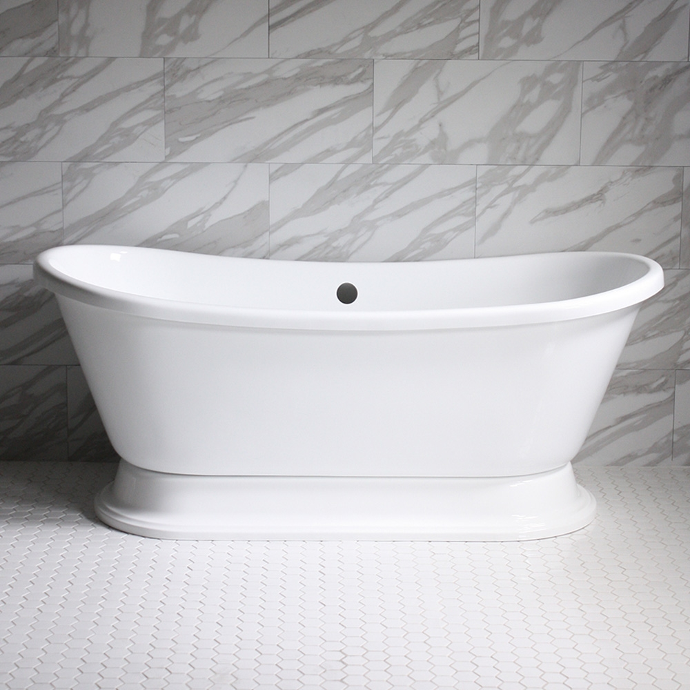 Hlbtpd67 67 Quot Hotel Collection French Bateau Pedestal Tub