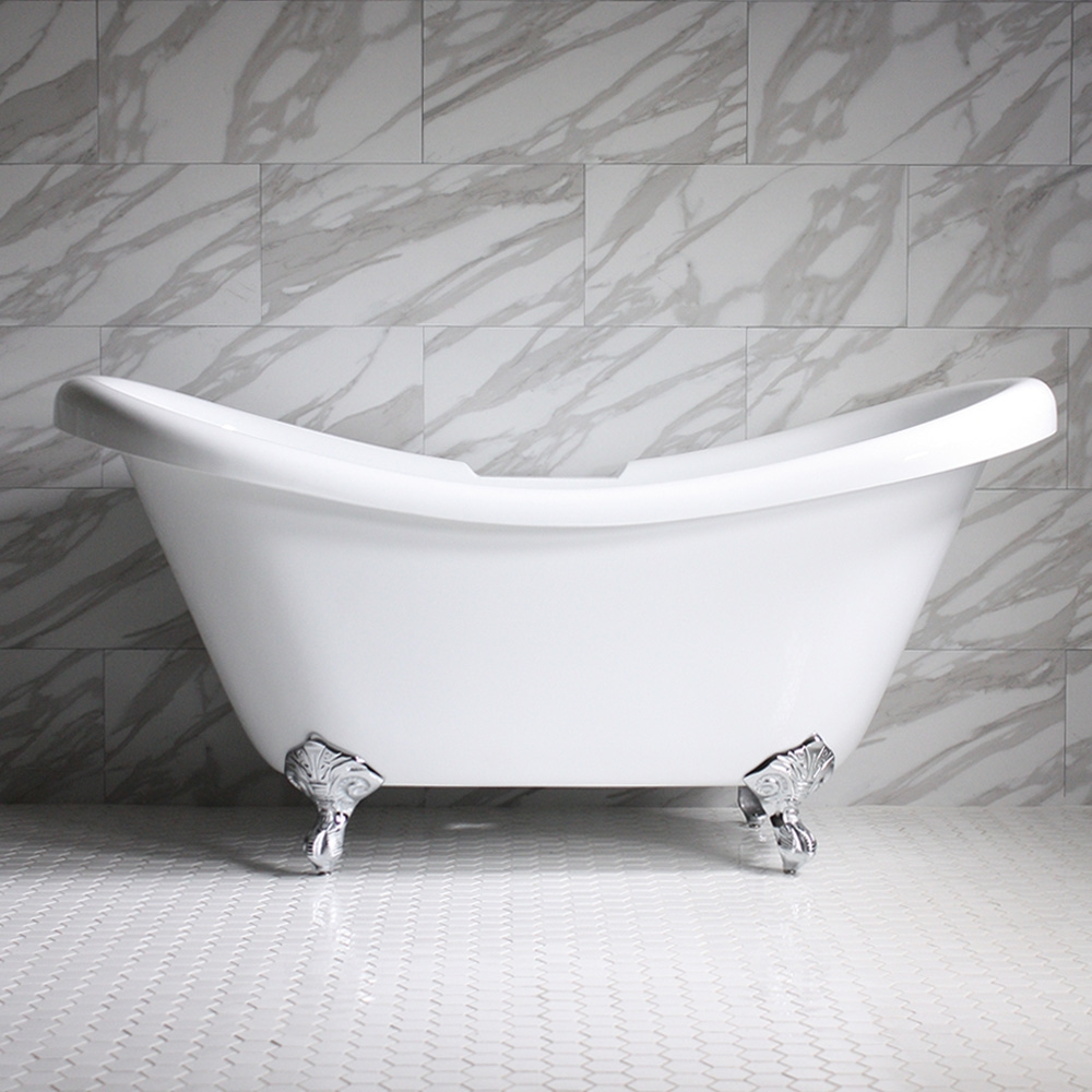 Hlds67 67 Quot Hotel Collection Double Slipper Clawfoot Tub