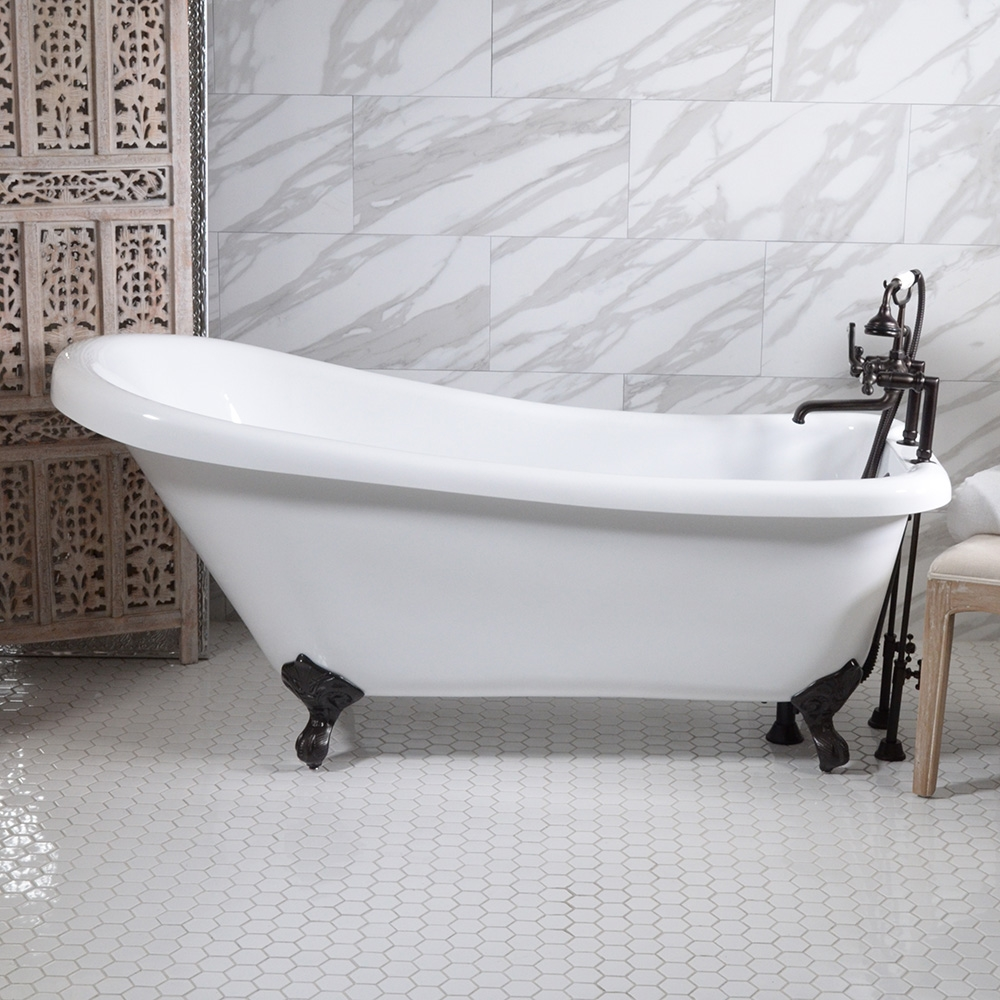 Hlsl59fpk 59 Quot Hotel Collection Single Slipper Clawfoot Tub