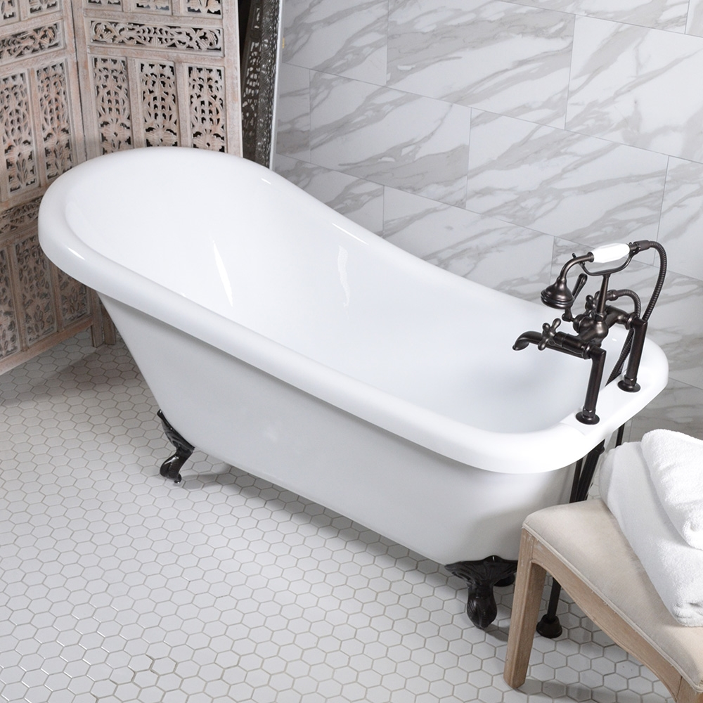 "HLSL59FPK 59"" Hotel Collection Single Slipper Clawfoot Tub"