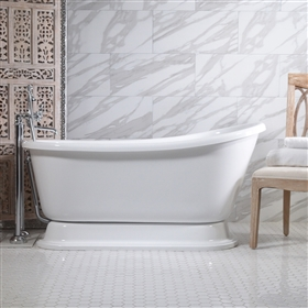 "<br>VTASW54 54"" AIR Massage Whirlpool Swedish Slipper Tub Package with 15 Jets and Built-in Heated Blower"