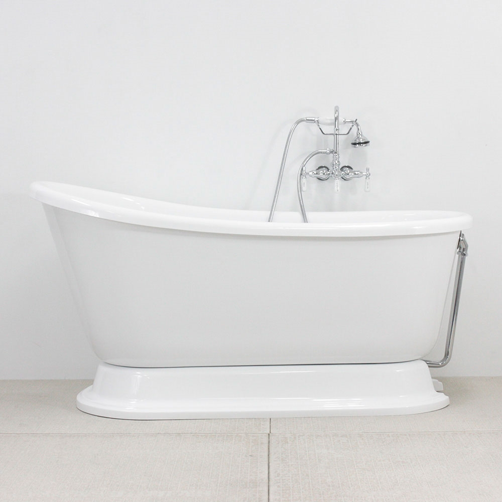 Vintage Whirlpool Air Jetted Free Standing Pedestal Bath Tub With Integrated Blower