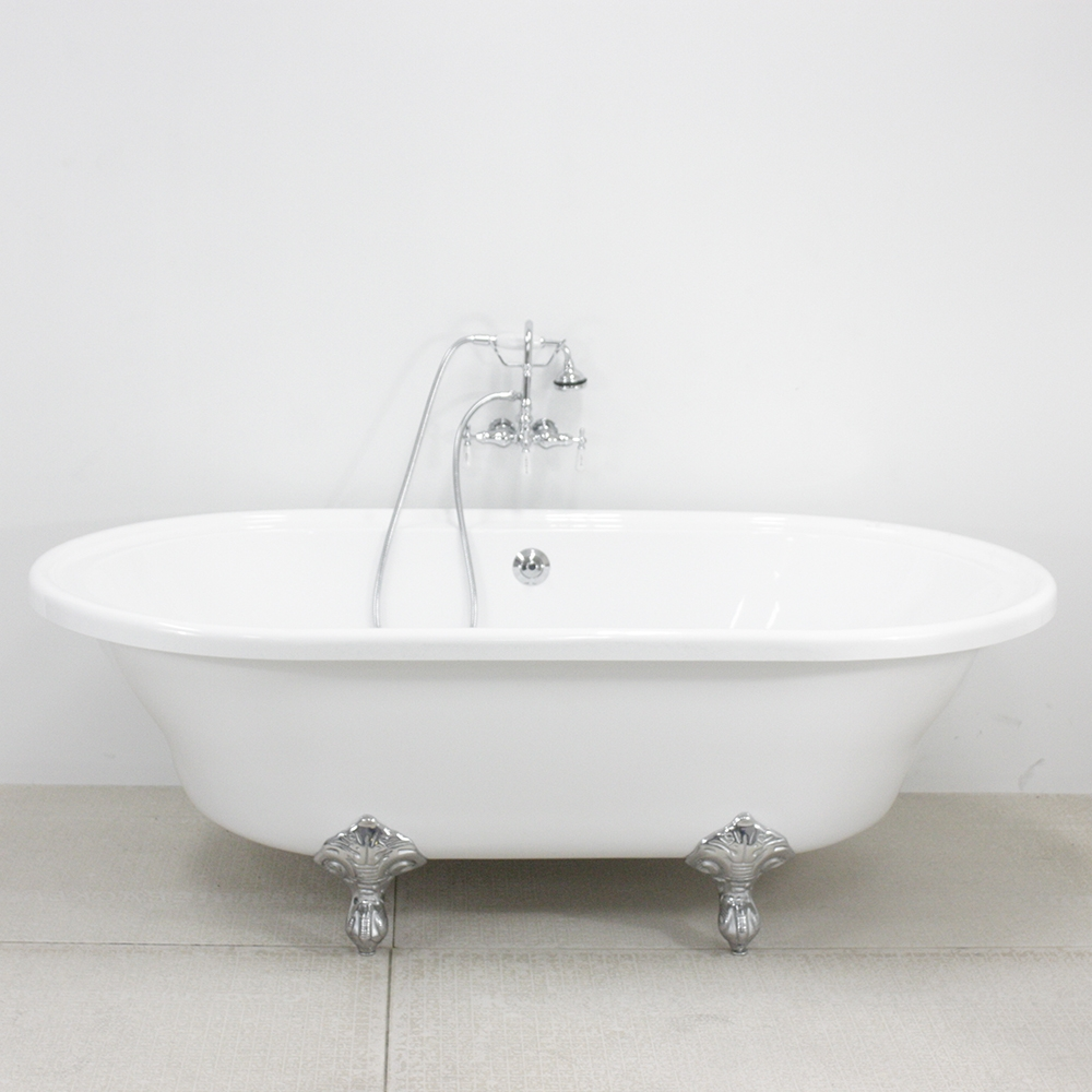 Hlxl73fpk hotel collection extra large double ended for Extra long soaking tub