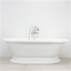 "<br>VTAXL73 73"" AIR Massage Whirlpool Double Ended Tub Package with 35 Jets and Built-in Heated Blower"