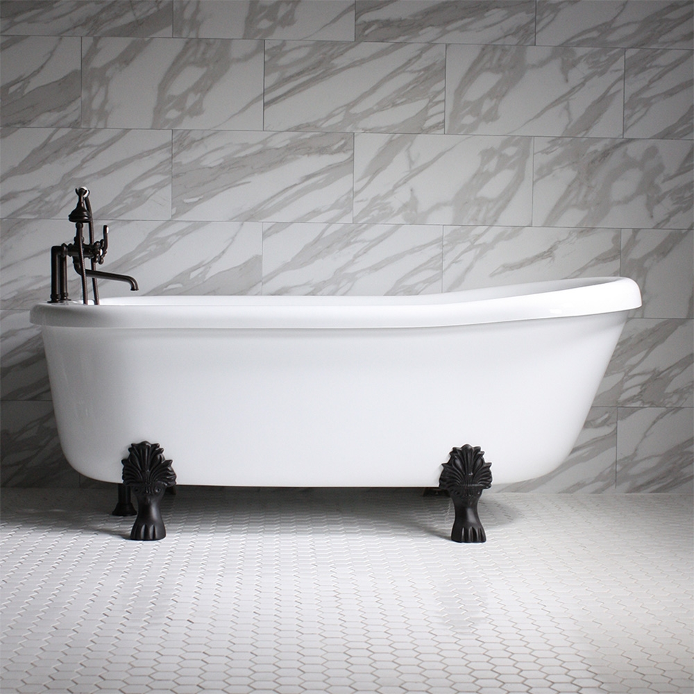 Ss67a 67 Quot Sansiro Air Jetted Single Slipper Clawfoot Tub