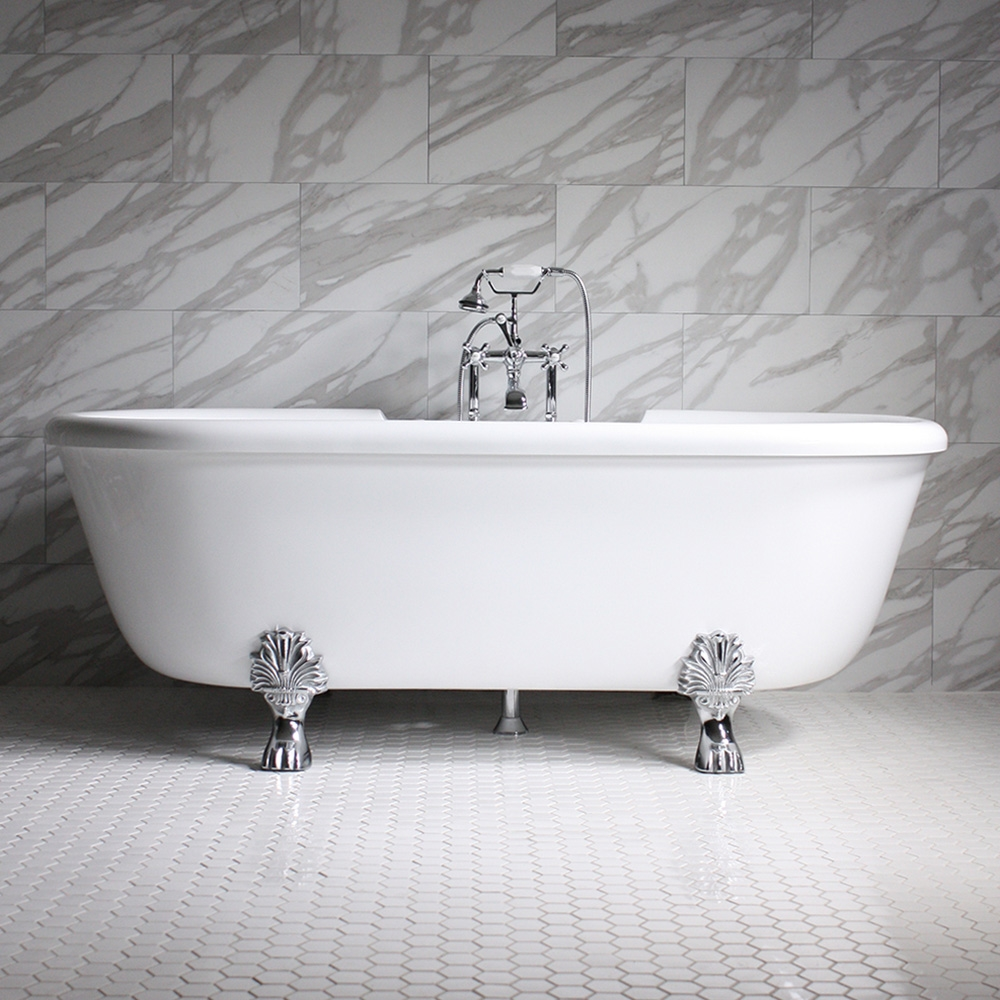 75 Quot Heated Air Jetted Double Ended Clawfoot Tub