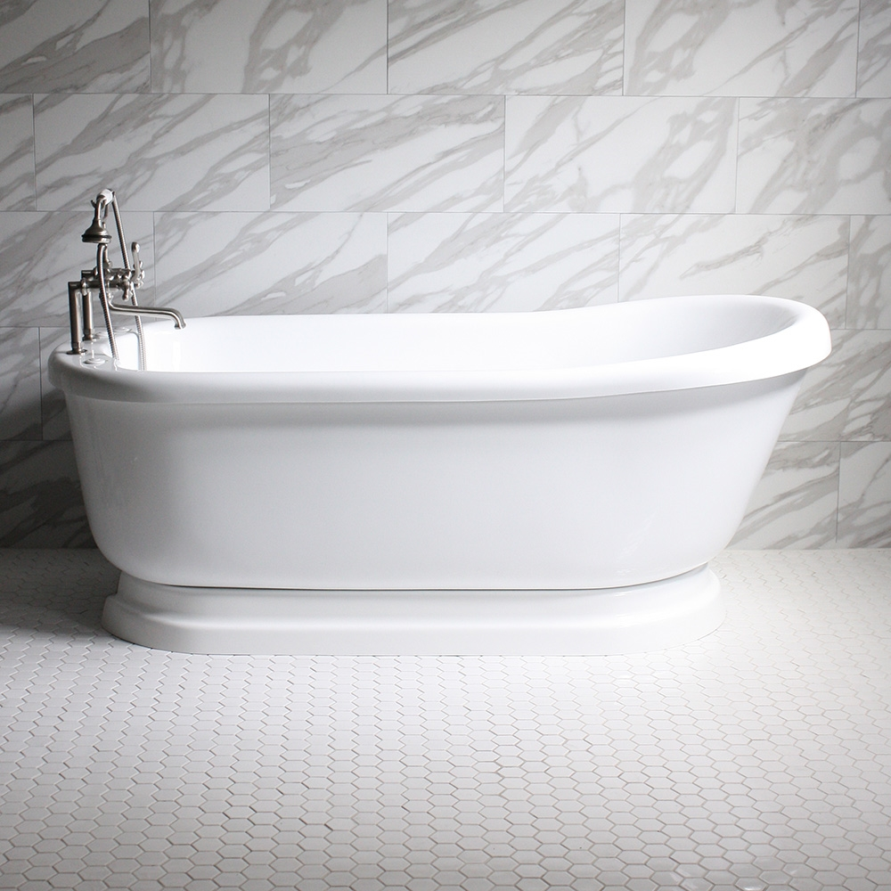 Sansiro Water Whirlpool Jetted Vintage Pedestal Free