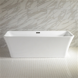 "<br>Sandava59 59"" Long High Gloss ACRYLIC Seamless Freestanding Soaker Bathtub and Faucet Package"