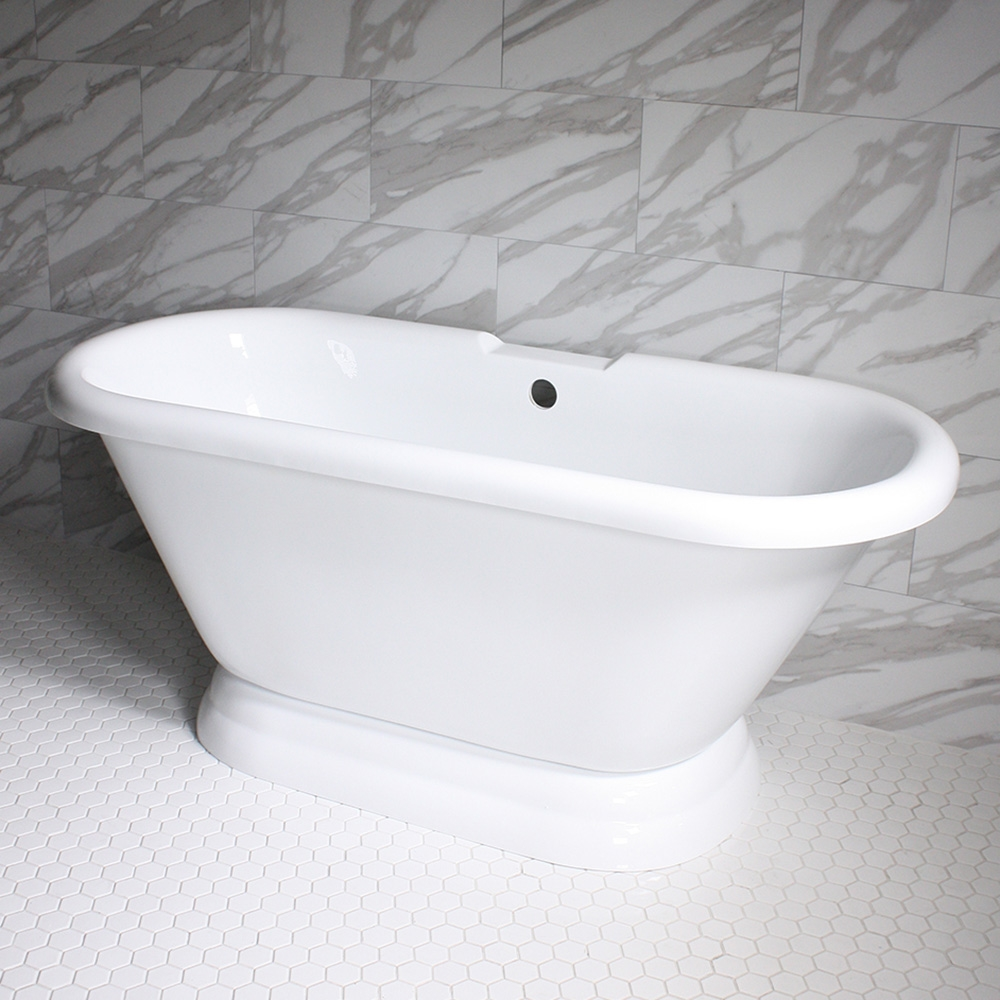 Vtapd59 59 Quot Hot Air Massage Double Ended Tub With Drain