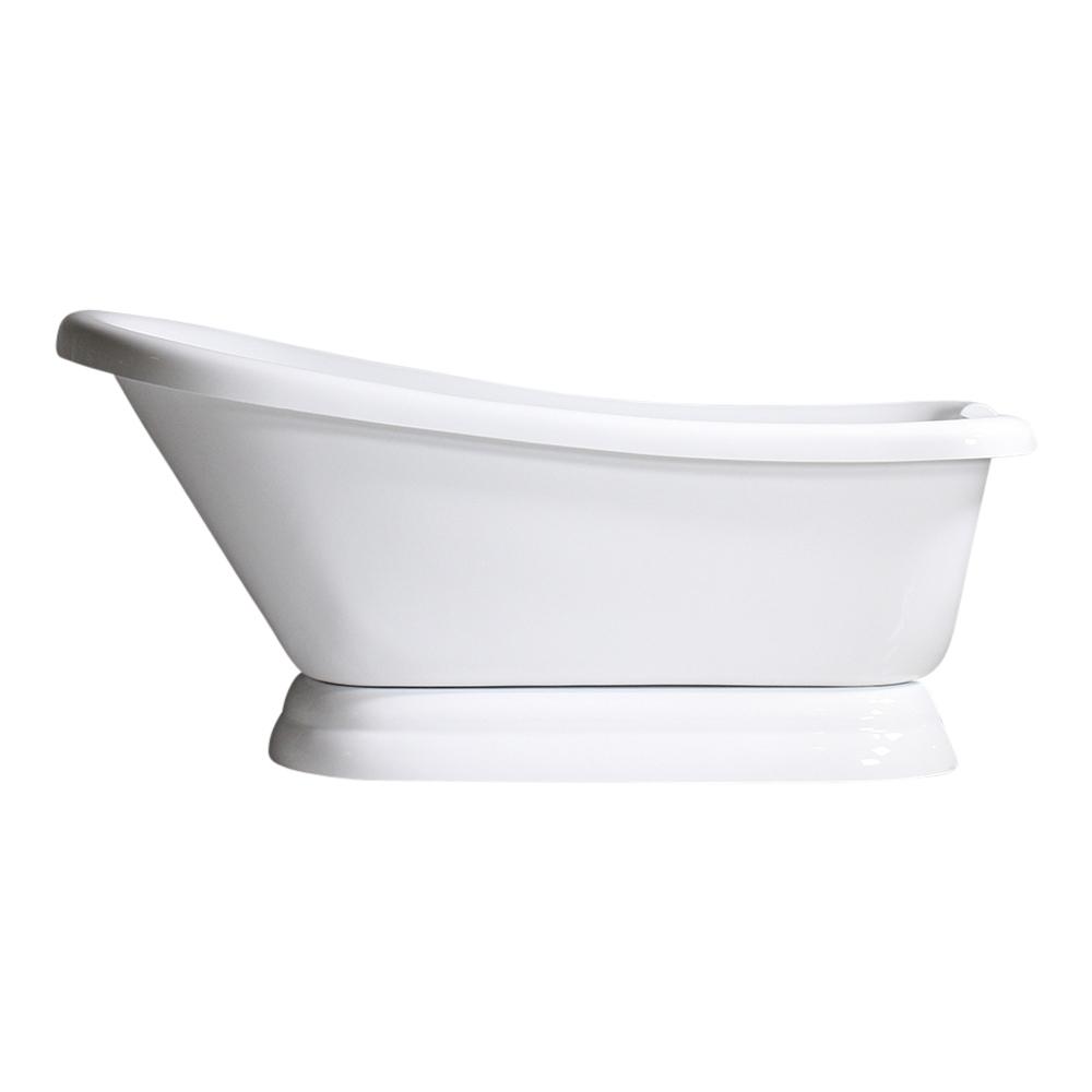 Vtasl73 73 Quot Hot Air Massage Single Slipper Tub With Drain