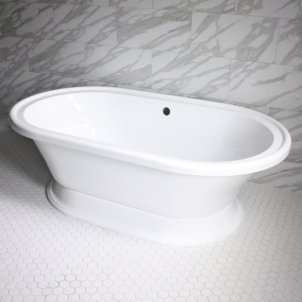 Vintage Whirlpool Air Jetted Free Standing Pedestal Bath Tub With Integrated