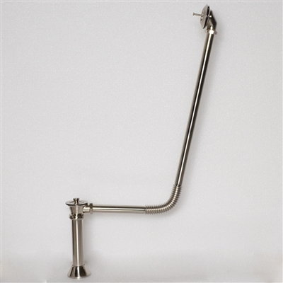 <br>BW04BN Victorian Drain with Lift Off Brass Stopper in Brushed Nickel Finish<br>