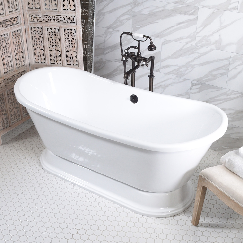 freestanding tub with jets. VTABT59 59  AIR Massage Whirlpool French Bateau Tub Package with