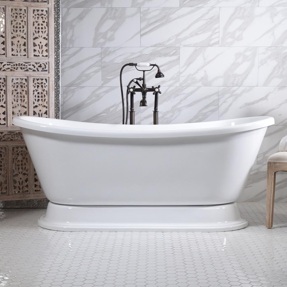 Hotel Collection Bateau Double Slipper Pedestal Bathtub - Bathtub Ideas
