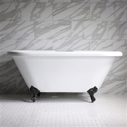 "<br>HLDBL59 59"" Hotel Collection CoreAcryl Acrylic Double Ended Clawfoot Tub with Feet"