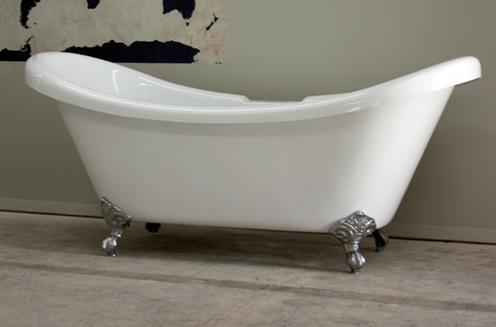 double slipper clawfoot tub acrylic. HLDS73 73  Hotel Collection Double Slipper Clawfoot Tub with Feet