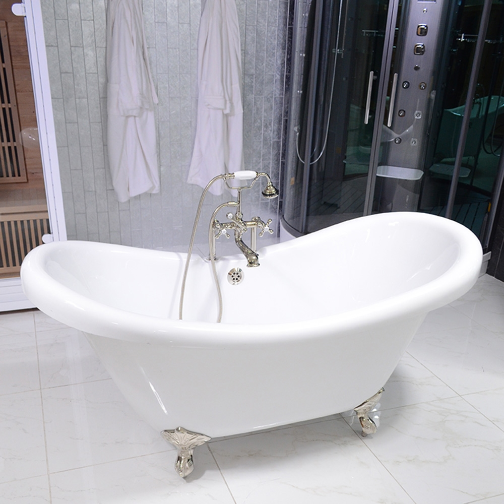 Hlds59fpk 59 Hotel Collection Double Slipper Clawfoot Tub