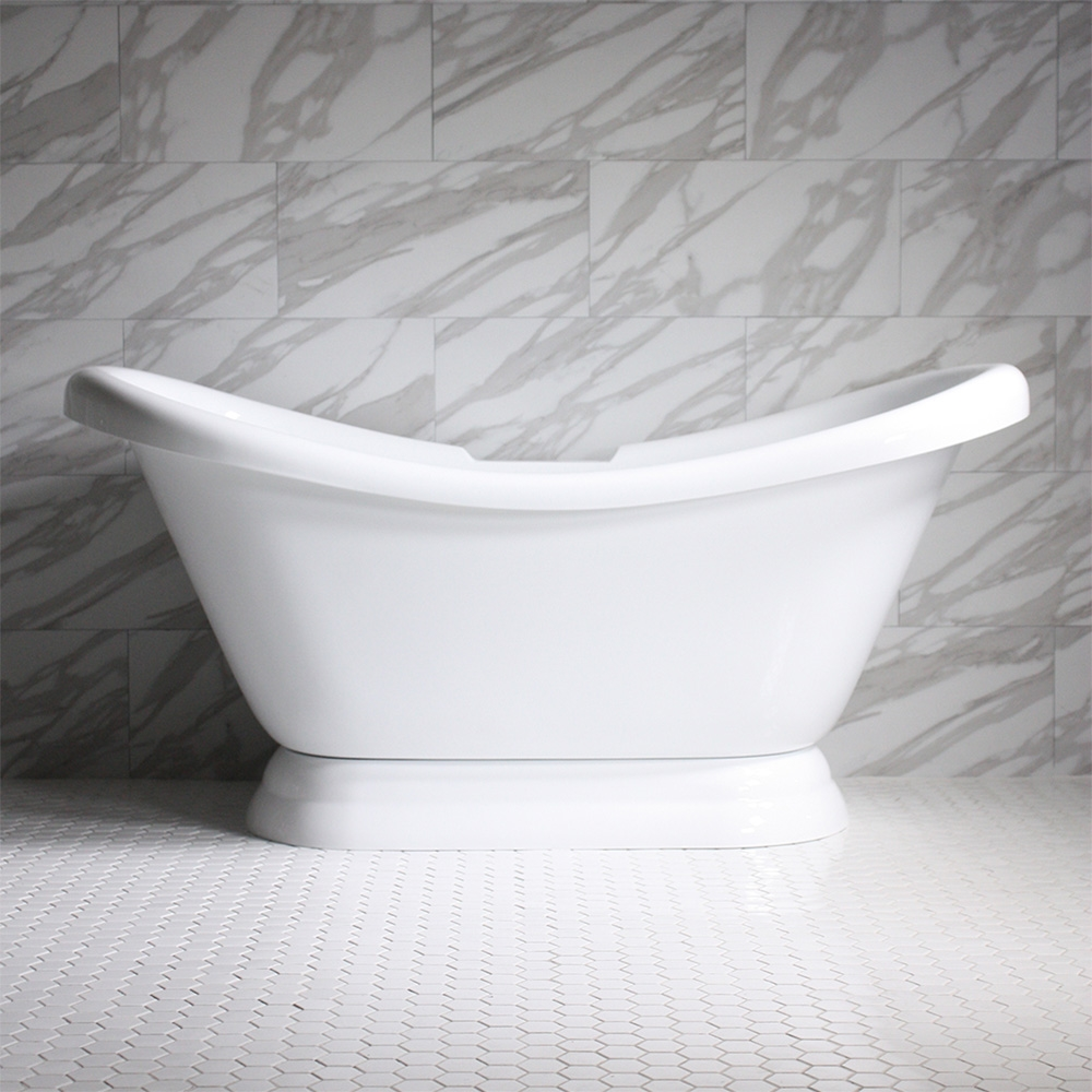Hldspd73 73 Quot Hotel Collection Double Slipper Pedestal Tub