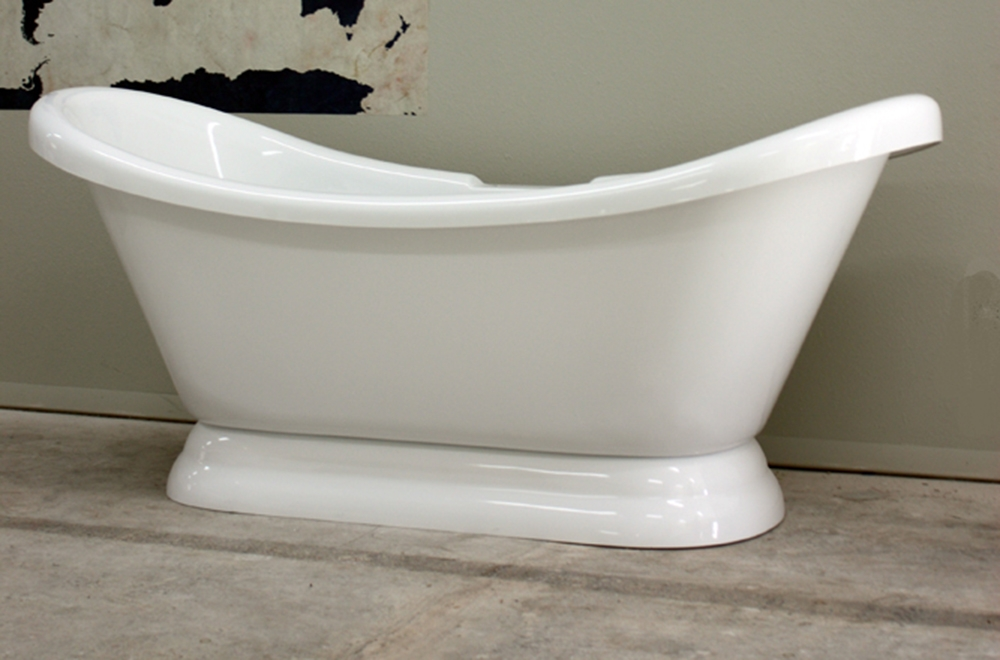 Hldspd73 73 Hotel Collection Double Slipper Pedestal Tub