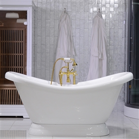 double slipper clawfoot tub acrylic. ACFL59FPK 59  Extra Wide Classic Clawfoot Tub Package with Grab Bars tubs