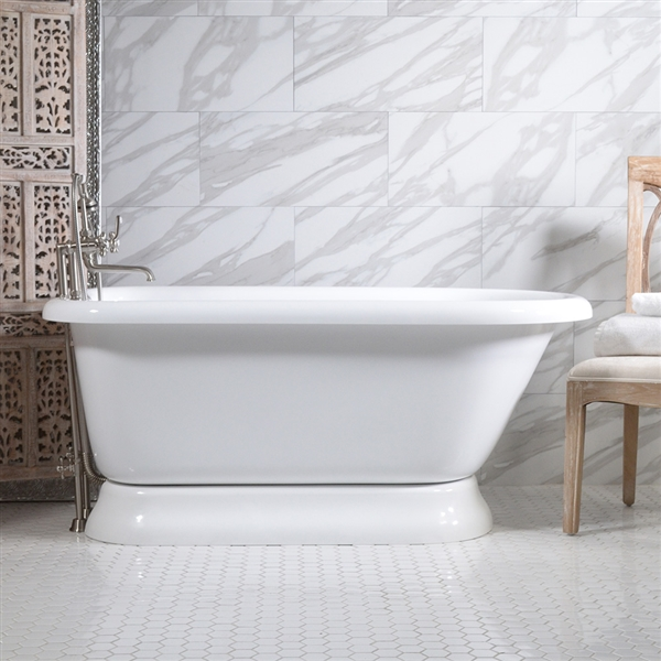 Hlflpd65fpk 65 Quot Hotel Collection Pedestal Tub And Faucet Pack
