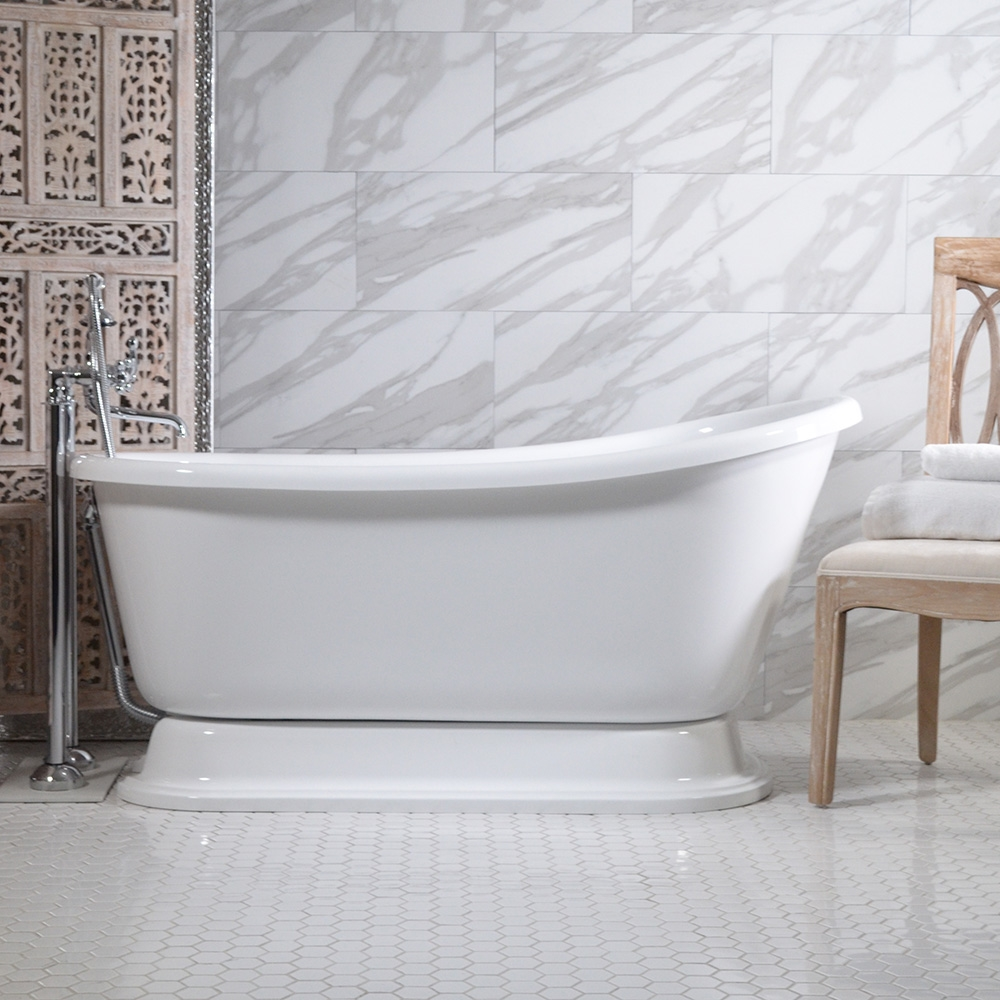 Vintage Whirlpool Air Jetted Free Standing Pedestal Bath Tub with ...