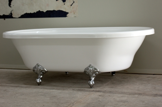 HLXL73 73 Hotel Collection Extra Large Double Ended Clawfoot Tub