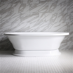 "<br>HLXLPD73 73"" Hotel Collection CoreAcryl Acrylic  Extra Large Double Ended Pedestal Tub with Base"
