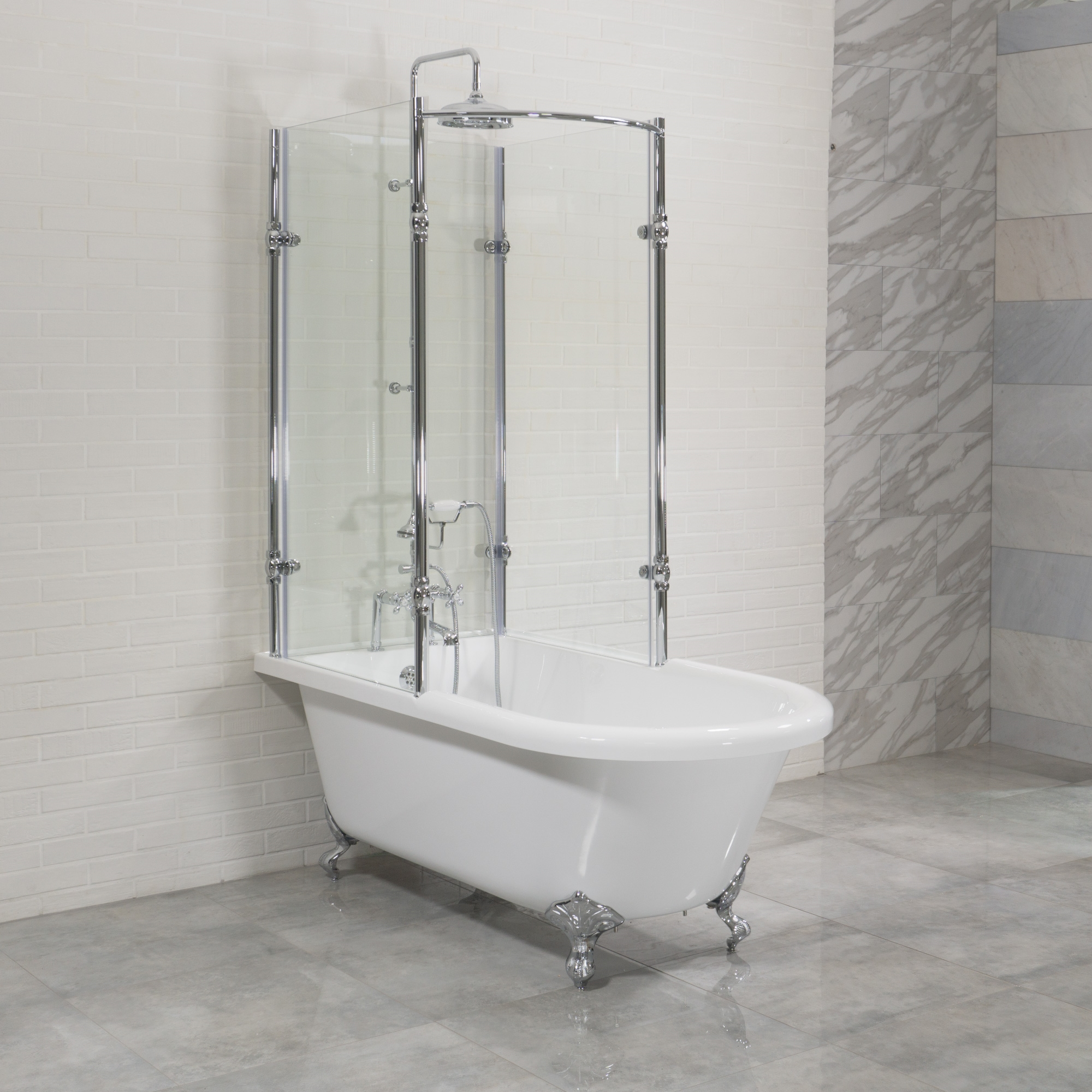 Br Oasis 59 Shpk Extra Wide Classic Clawfoot Tub With