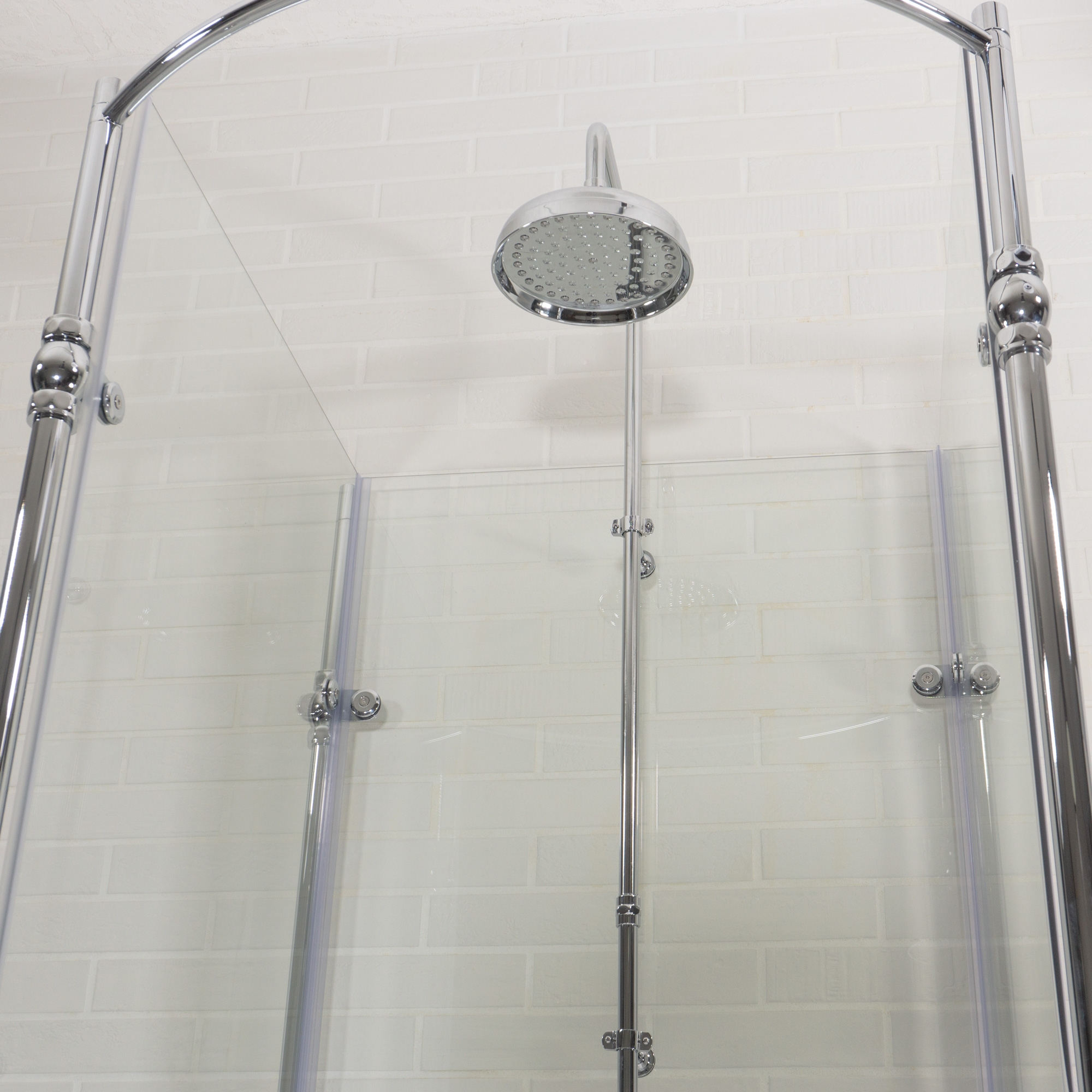 Oasis Vintage Antique Clawfoot Tub with Glass Shower Surround