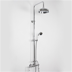 <br>Edwardian Exposed Wall Shower with Diverter and Handheld in Chrome