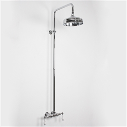 <br>Edwardian Exposed Wall Shower in Chrome