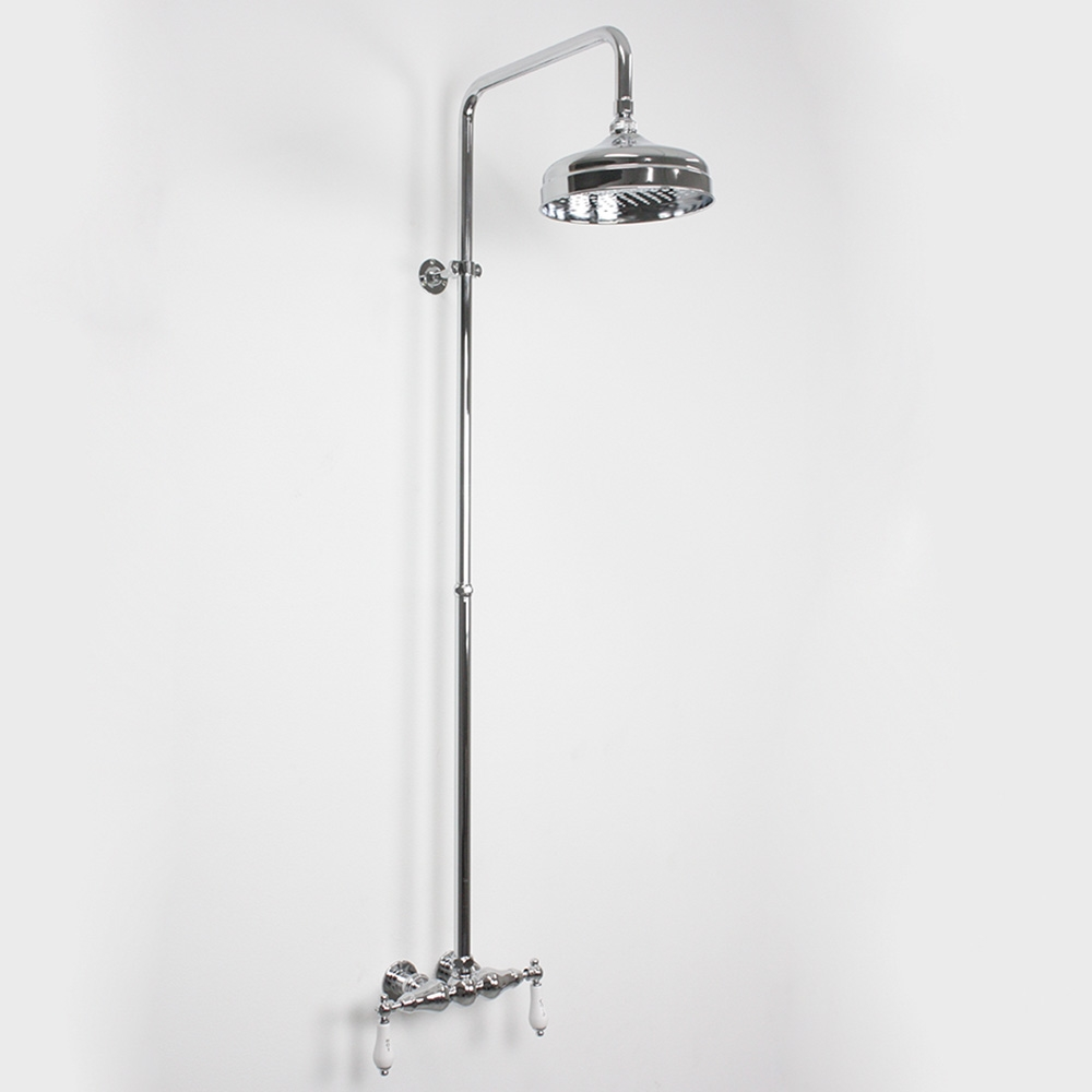 Edwardian Exposed Wall Shower in Chrome