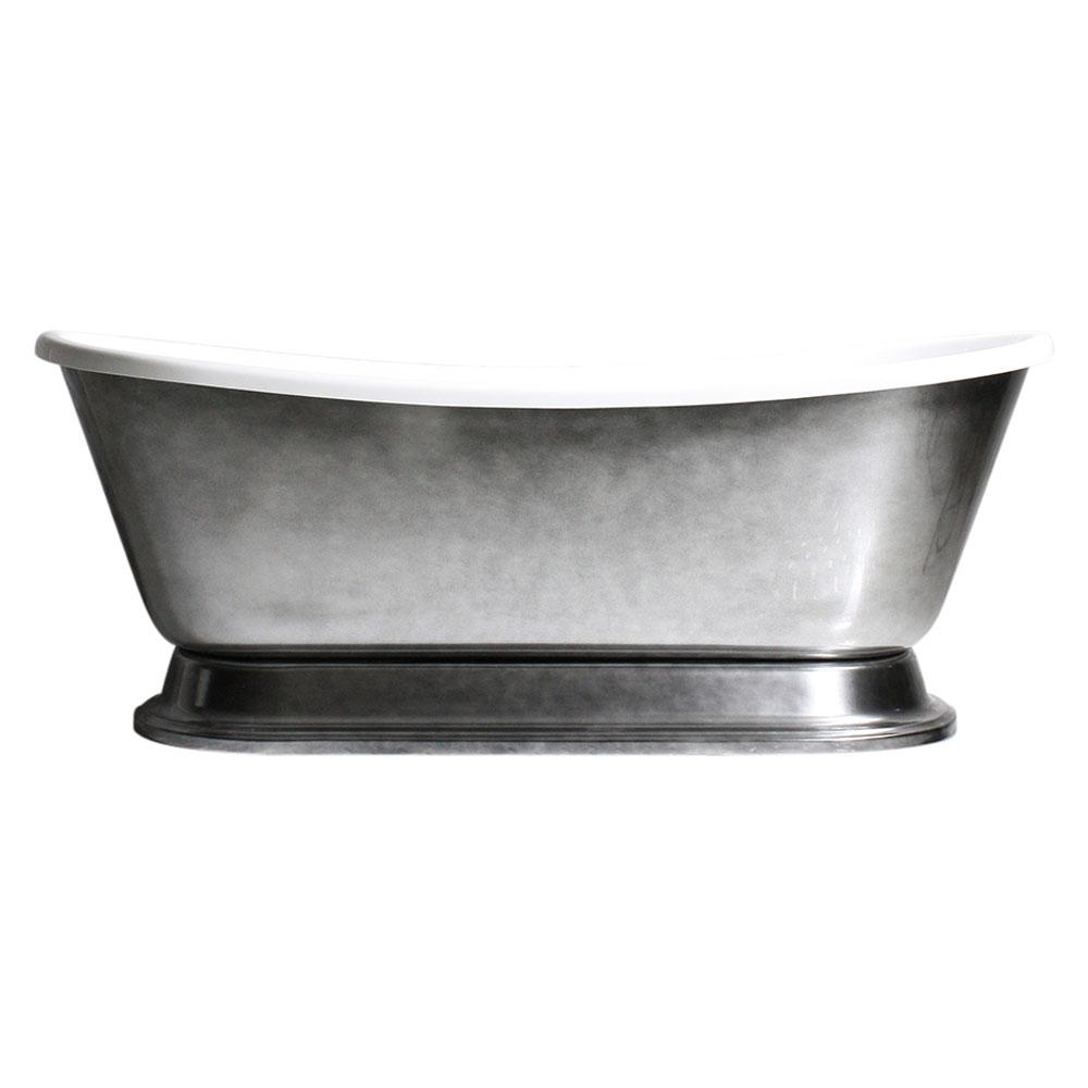 CHRISTOFORO59\' CoreAcryl Acrylic French Bateau Pedestal Bathtub ...