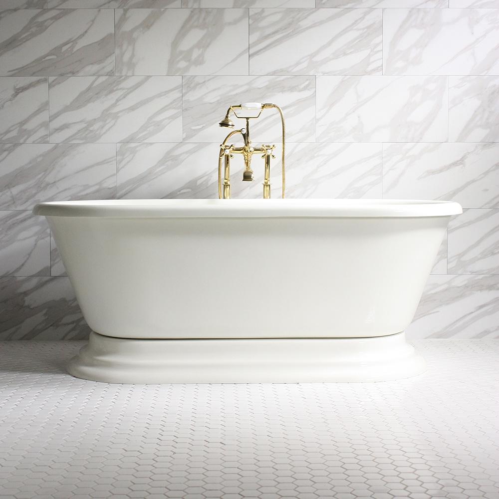 GIANFRANCO\' CoreAcryl Bisque Double Ended Pedestal Bathtub