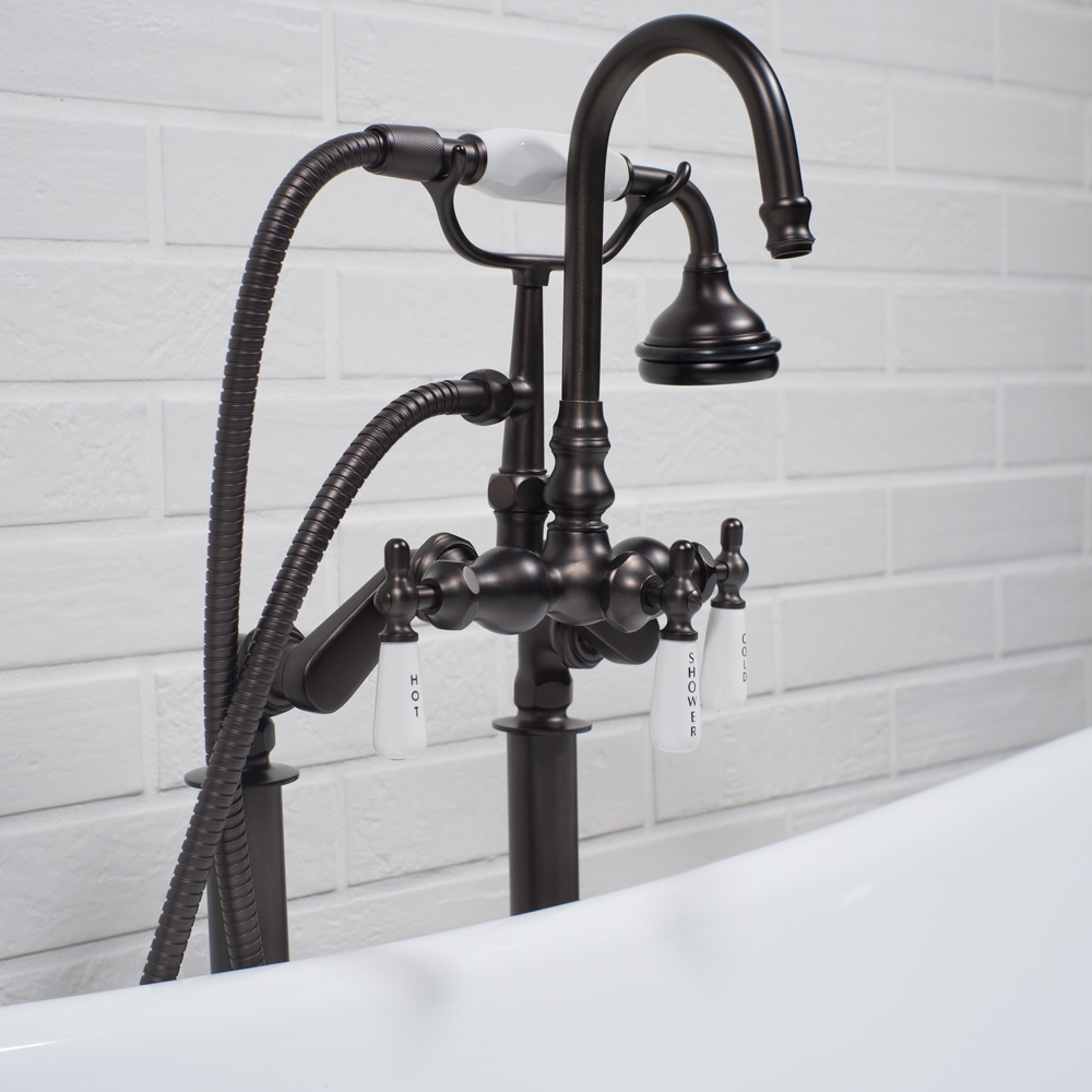 Free Standing Clawfoot Edwardian Tub Filler in Oil Rubbed Bronze