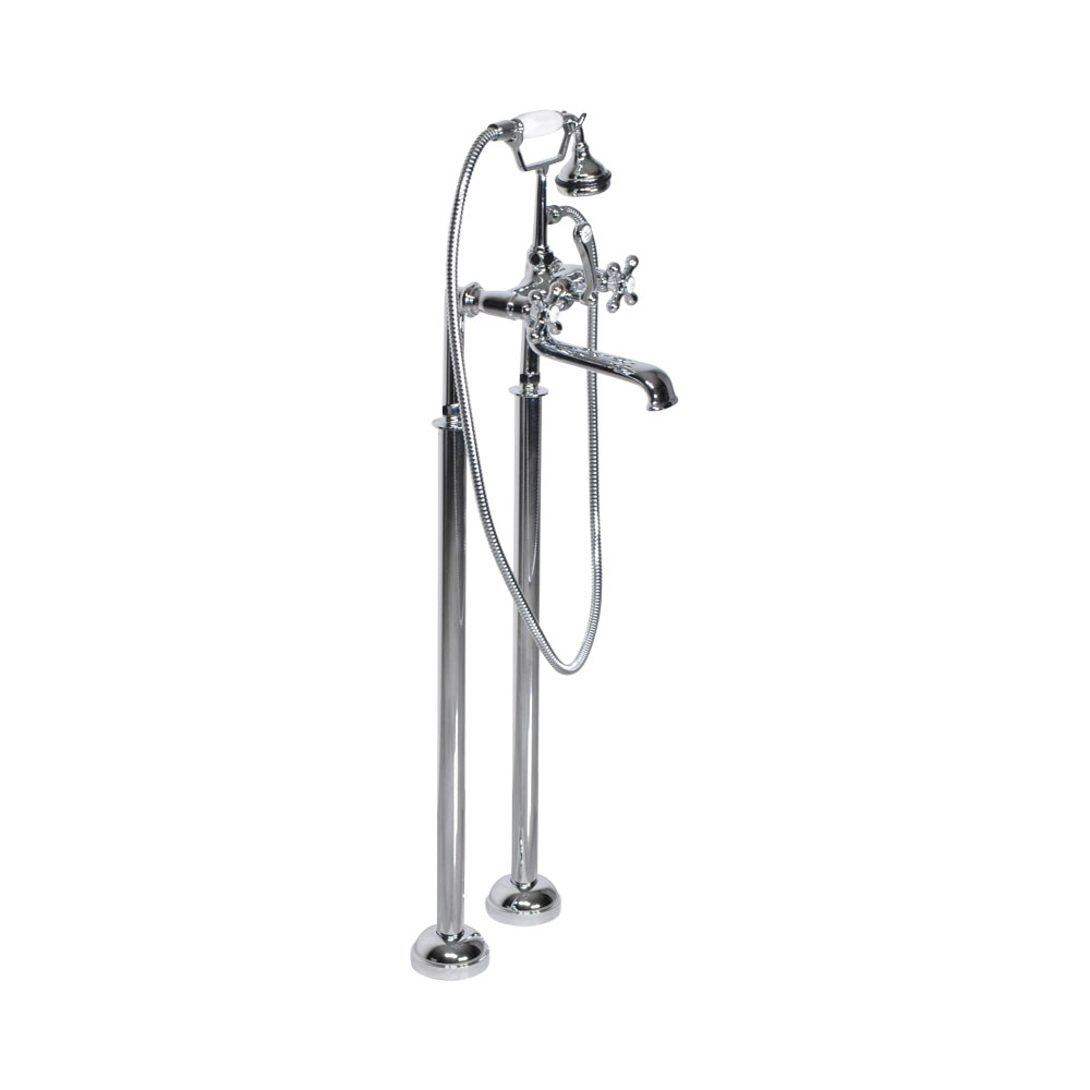 Victoriana Free Standing Tub Filler in Chrome