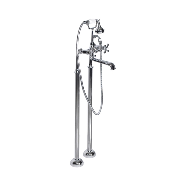 <br>Victoriana Freestanding British Telephone Style Tub Faucet in Chrome