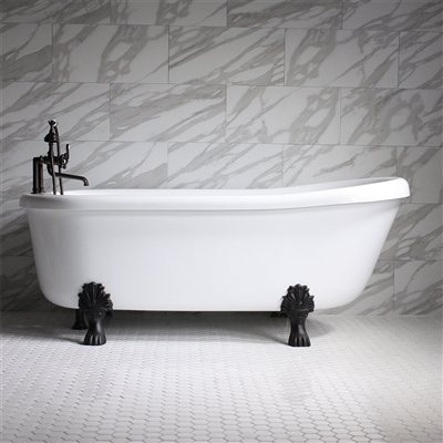 Ss67w 67 Quot Sansiro Water Jetted Single Slipper Clawfoot Tub