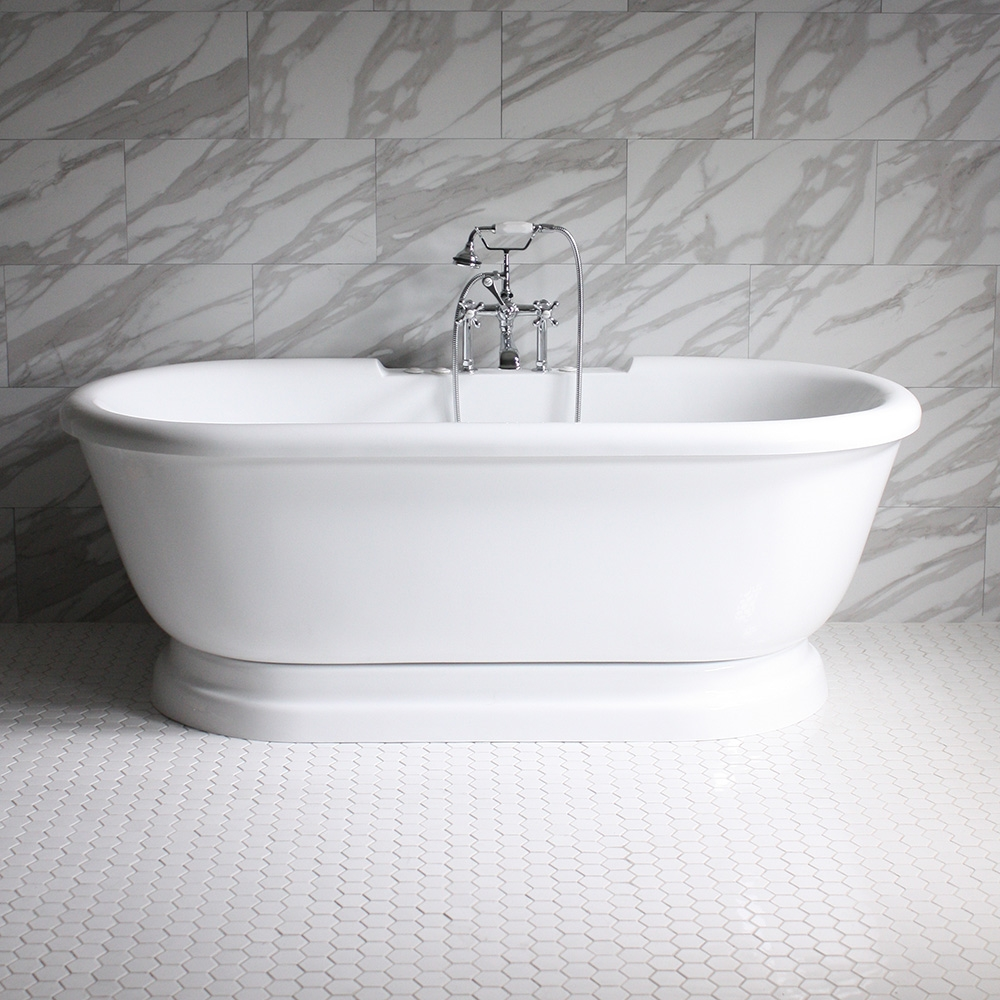 Sspd75w 75 Quot Sansiro Water Jetted Double Ended Pedestal Tub