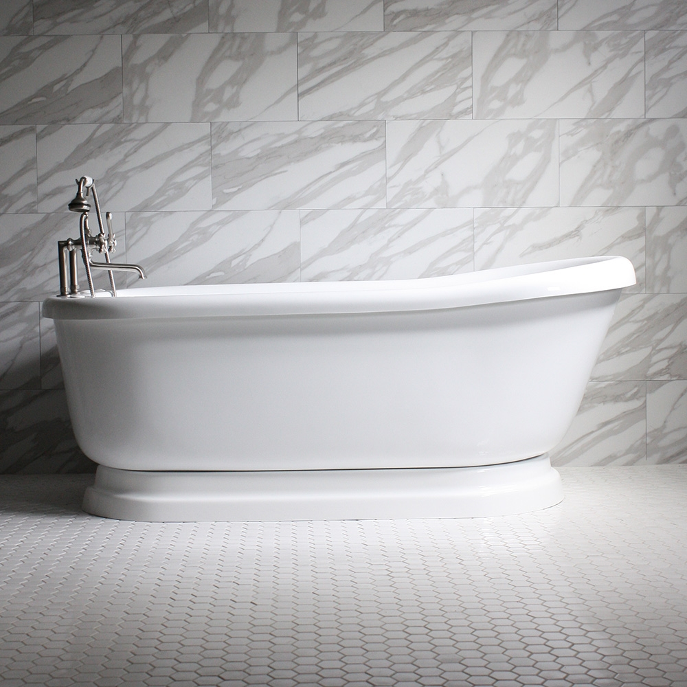 bath tub prod product roca element standing acrylic bathtub free