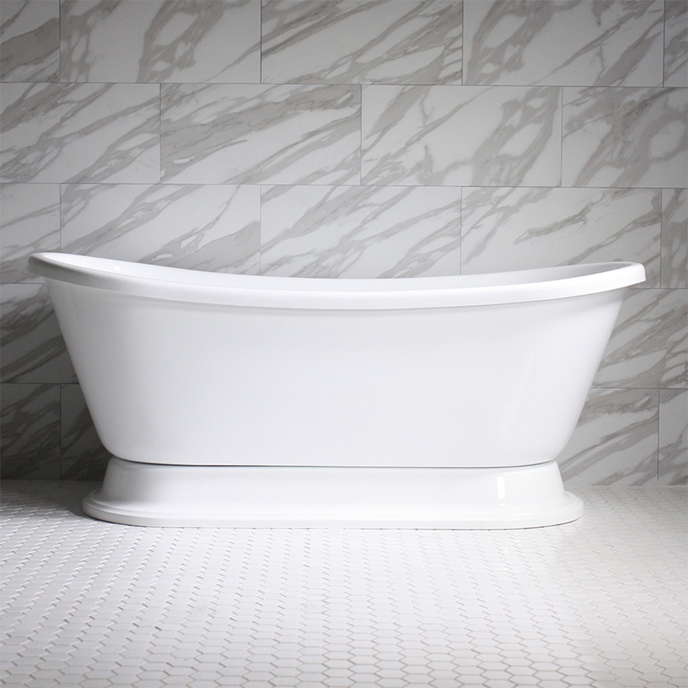 Vtabt59 59 Quot Hot Air Massage French Bateau Tub With