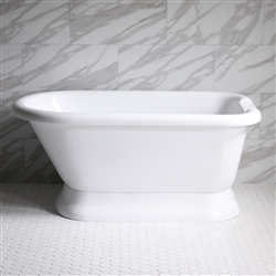"<br>VTAFL62 62"" HOT AIR Massage Classic Style Tub with Drain and Concealed Blower"