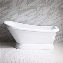 "<br>VTASL57 57"" HOT AIR Massage Single Slipper Tub with Drain and Concealed Blower"
