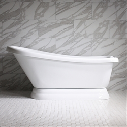 "<br>VTASL59 59"" HOT AIR Massage Single Slipper Tub with Drain and Concealed Blower"