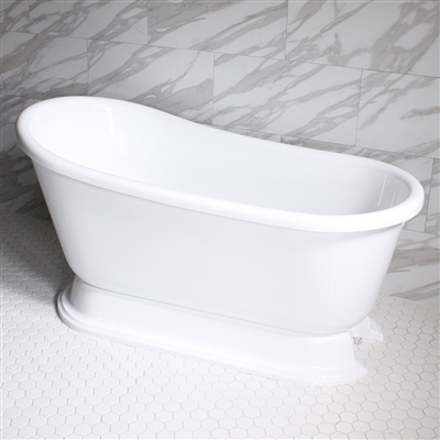 "<br>VTASW58 58"" HOT AIR Massage Swedish Slipper Tub with Drain and Concealed Blower"