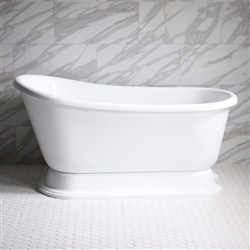 "<br>VTASW62 62"" HOT AIR Massage Swedish Slipper Tub with Drain and Concealed Blower"