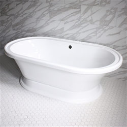 "<br>VTAXL73 73"" HOT AIR Massage Double Ended Extra Wide Tub with Drain and Concealed Blower"